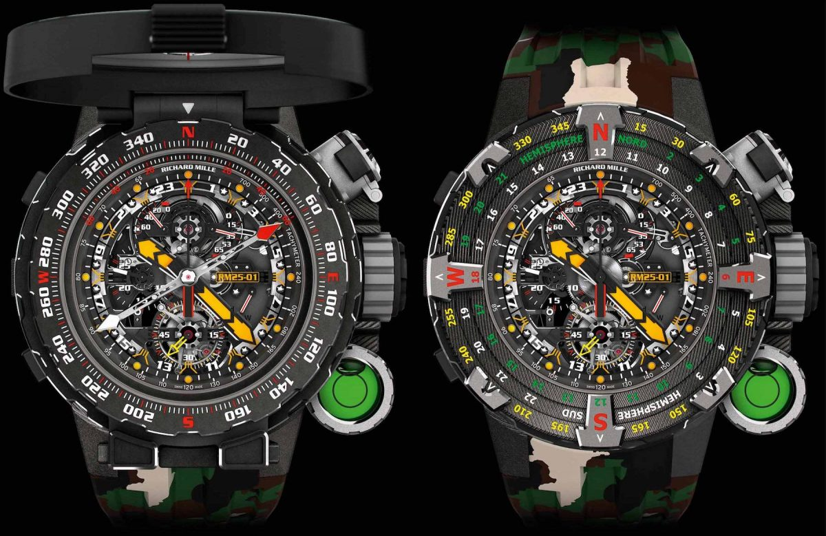Richard Mille's New Million Dollar RM 25-01 Tourbillon Adventure Luxury Replica Watches For Sylvester Stallone