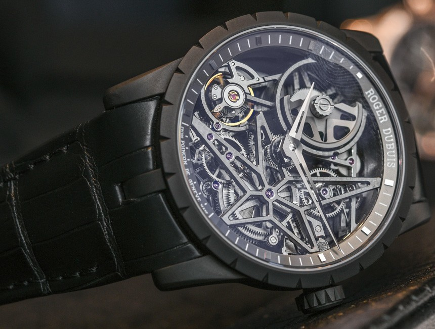 Roger Dubuis Excalibur 42 Automatic Skeleton Swiss Movement Replica Watches Hands-On