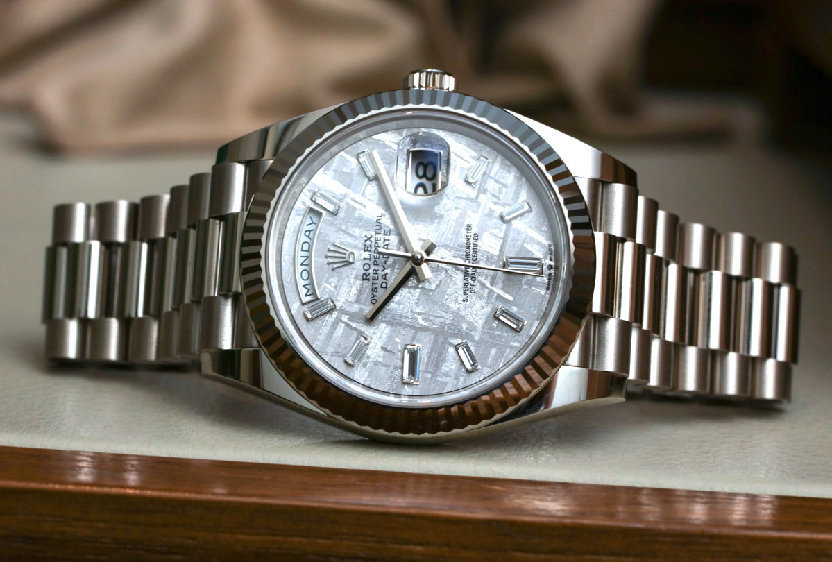 Rolex Day-Date 40 White Gold Meteorite Dial 228239 Swiss Eta Movement Replica Watch Hands-On