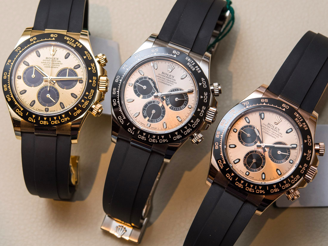 Rolex Cosmograph Daytona Best Replica Watches In Gold With Oysterflex Rubber Strap & Ceramic Bezel Hands-On