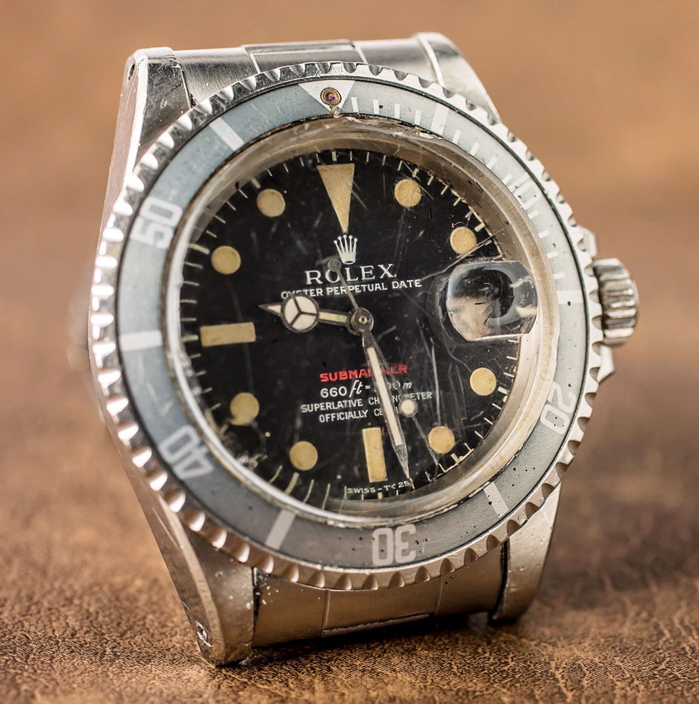 A Vintage Rolex'Red Submariner' Online Replica Watch With An Actual History Of Military Service